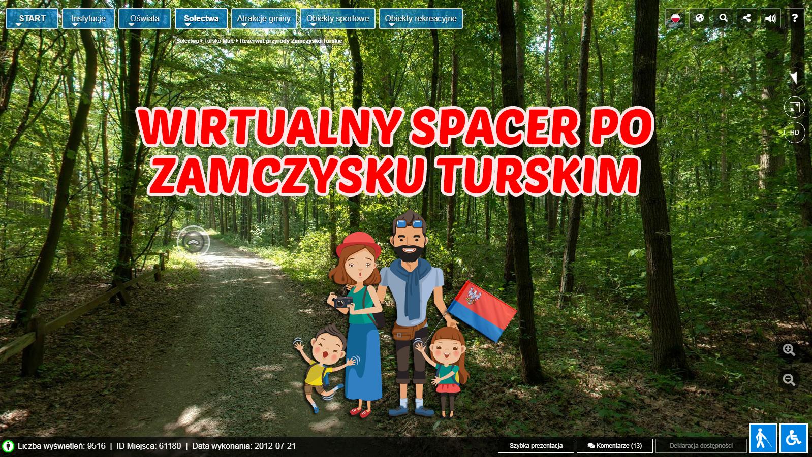 """Przejdź dowirtualnego spaceru po""""Zamczysku turskim"""""""